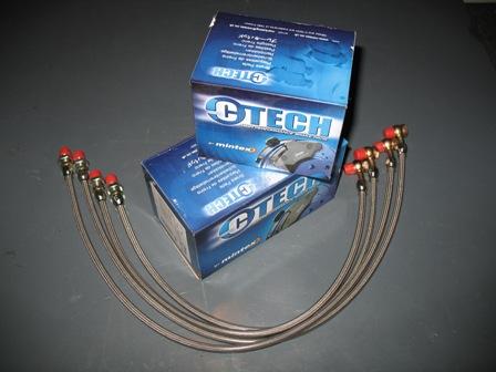 Mintex TVR Brake pads, stainless steel hoses.