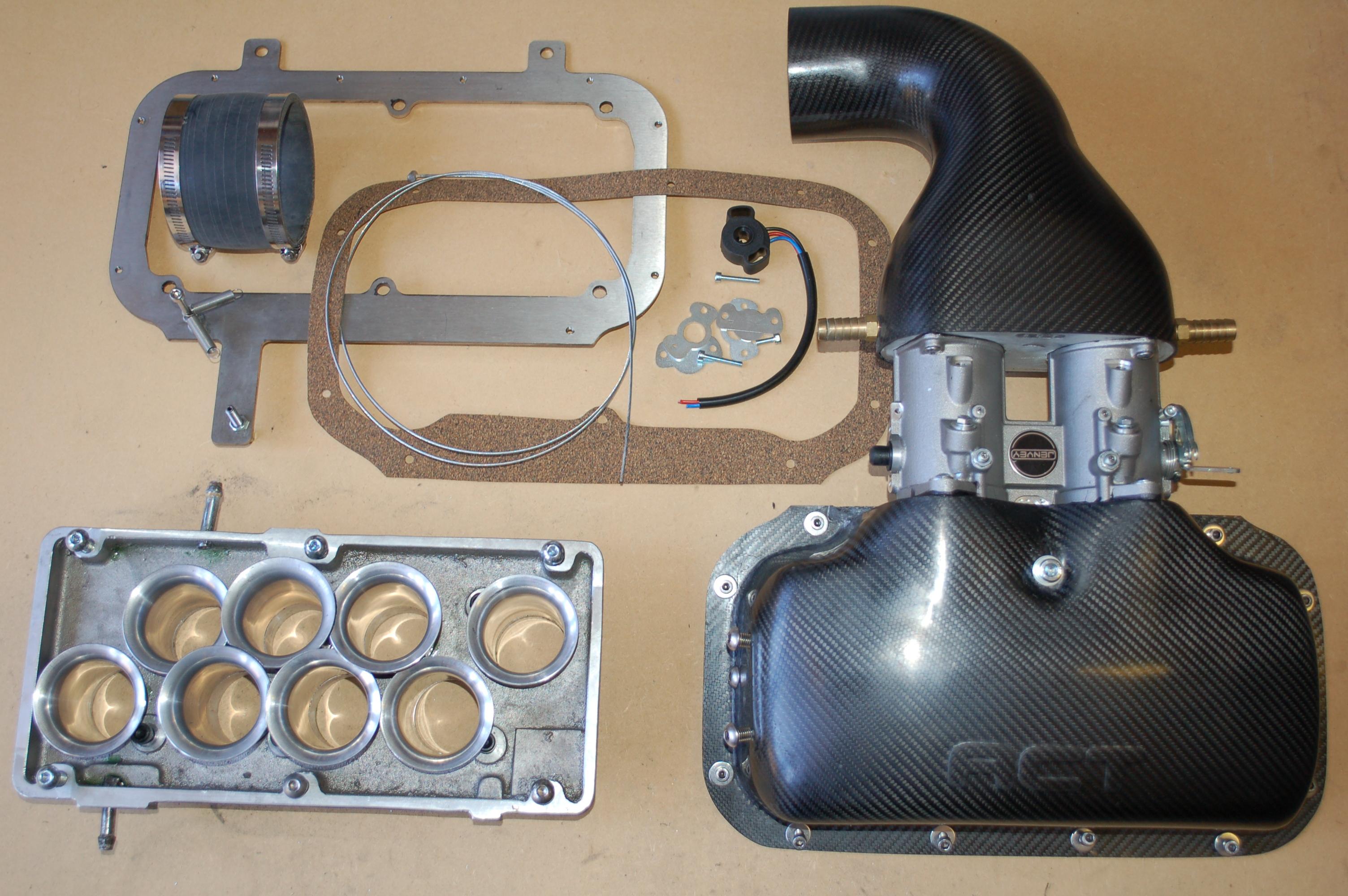 Rover V8 intake / plenum / trumpet kits